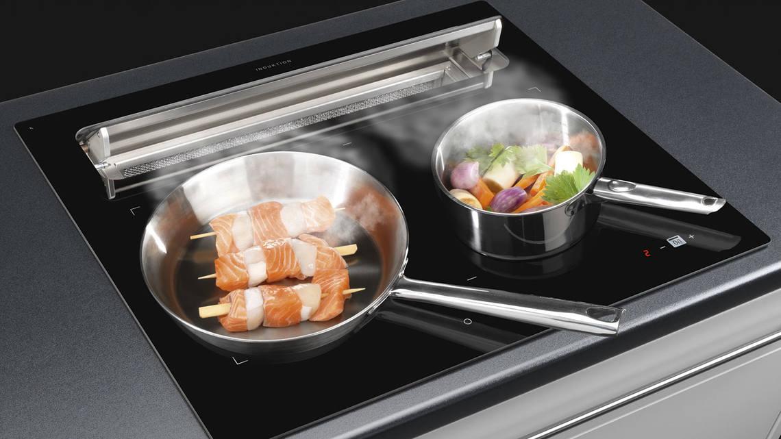 Mehr Raum für Platzsparer: FlexX-Induktion mit Kochfeldabzug jetzt ...