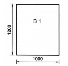 Bodenplatte Rechteck B1 Stahl Schwarz, 2 mm stark