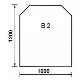 Plaque de sol Trapézoidale B2 Acier noir, 2 mm