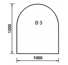 Bodenplatte Rundbogen B3 Rundbogen B3, Glas 6 mm