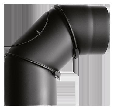 Rohrbogen 0°-90° verstellbar Stahl Schwarz