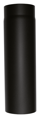 Rauchrohr L = 150 mm Stahl Schwarz