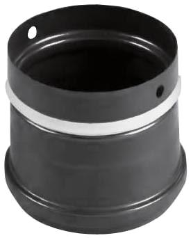 Pellet pipe stove connection Pellet-Ofenanschluss Schwarz emailliert