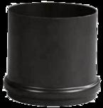 Pellet chimney connection Pellet-Schornsteinanschluss – Schwarz emailliert