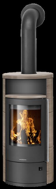 Wood stove Polar Neo 4 Ceramic Grappa, corpus steel black