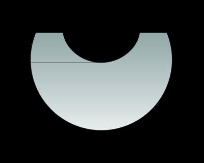 Glas-Vorlegeplatte zu Polar Neo 6 und Polar Neo Bakery Glas-Vorlegeplatte
