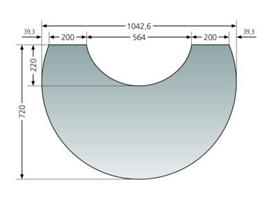 Glass bottom plates for Polar Neo 6 and Polar Neo Bakery Glass bottom plate