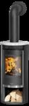 Wood stove Rota 2.0 Cover plate ceramic Silk white, corpus steel black