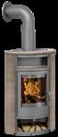 Wood stove Polar Eck Ceramic Grappa, corpus steel grey