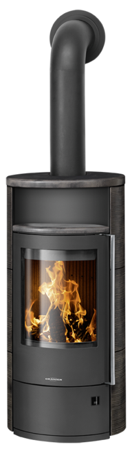 Wood stove Polar Neo 4 Ceramic Namib, corpus steel black