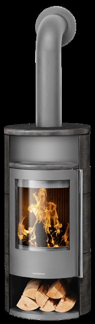 Wood stove Polar Neo 4 Ceramic Namib, corpus steel grey