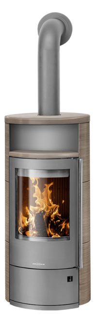 Wood stove Polar Neo 8 Ceramic Grappa, corpus steel grey