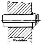 Fresh air-exhaust pipe Frischluft-Abgasrohr – Wandstärke maximal 404 mm