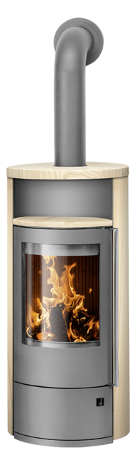 Wood stove Polar Neo 8 Sandstone, corpus steel grey