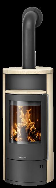 Wood stove Polar Neo 8 Sandstone, corpus steel black