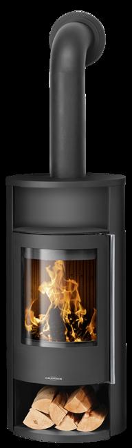 Wood stove Polar Neo 4 Steel black