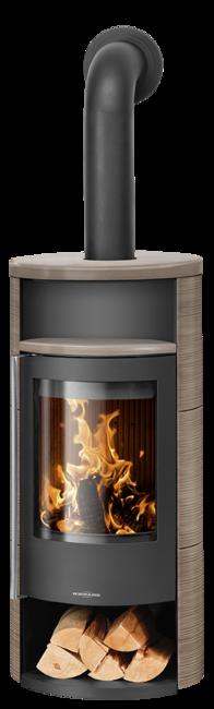 Wood stove Polar Neo 8 Ceramic Grappa, corpus steel black