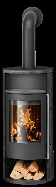Wood stove Polar Neo 8 Ceramic Namib, corpus steel black