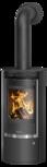 Wood stove Rota Top 2.0 Cover plate steel black, corpus steel black