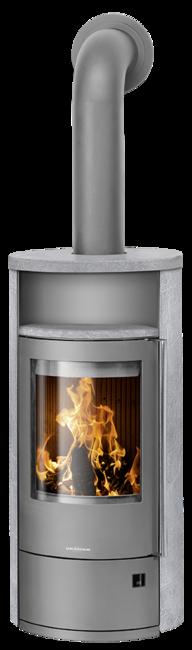 Wood stove Polar Neo 4 Soapstone, corpus steel grey