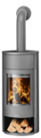 Wood stove Polar Neo Aqua with boiler function Steel grey