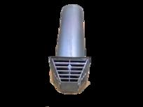 Frischluft-Abgasrohr Frischluft-Abgasrohr – Wandstärke maximal 390 mm