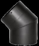 Rohrbogen 45° Stahl Schwarz