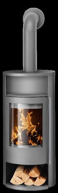 Wood stove Polar Neo 8 Steel grey