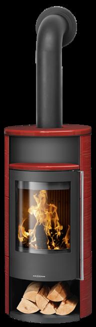 Wood stove Polar Neo 4 Ceramic Pepper red, corpus steel black