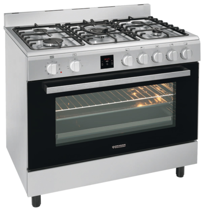 Stationary freestanding cooker and oven FZE 1599 FZE 1599, Edelstahl Erdgas