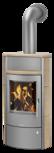 Wood stove Pori 7 Ceramic Coretto, corpus steel grey