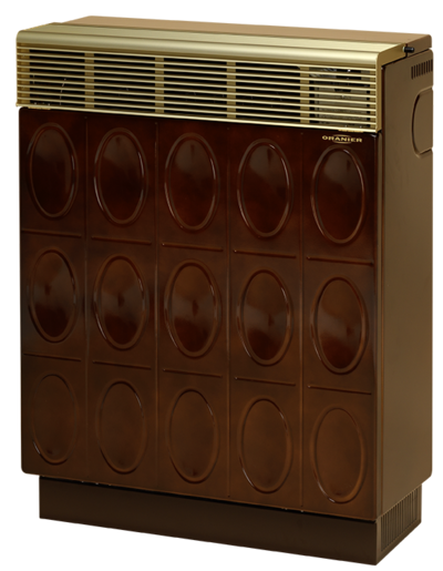 Gasheizautomat 8941-60 Palma Relief (7,0 kW) Majolikbraun Erdgas