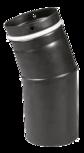 Pellet pipe bow 45° Pellet-Bogen 45° Schwarz emailliert