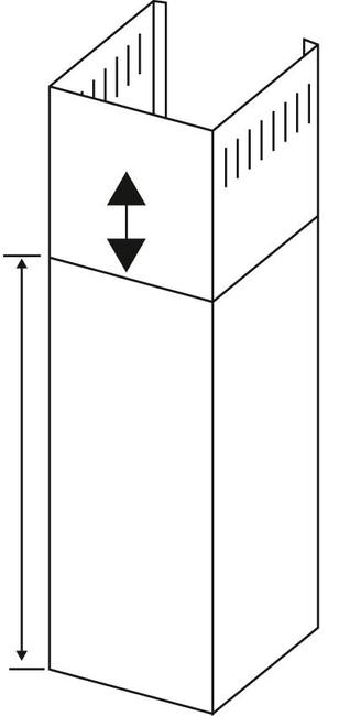 Langer Grundschacht für Inselhauben LSI / 100 cm
