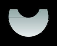 Glas-Vorlegeplatte zu Polar Neo 8, Polar Neo W+ und Polar Neo Aqua Glas-Vorlegeplatte