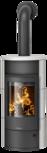 Wood stove Polar Neo 6 Ceramic Silk white, corpus steel black