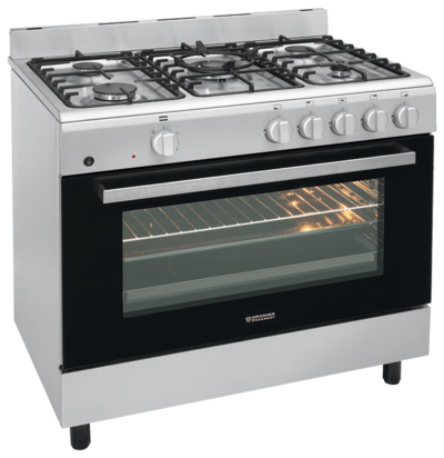 Stationary freestanding cooker and oven FZE 1499 FZE 1499, Edelstahl Erdgas