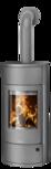 Wood stove Polar Neo W+ Steel grey