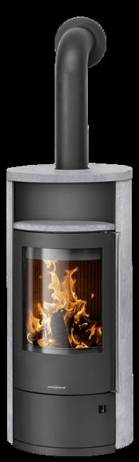 Wood stove Polar Neo 8 Soapstone, corpus steel black
