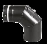 Pellet pipe bow 90° Pellet-Bogen 90° Schwarz emailliert