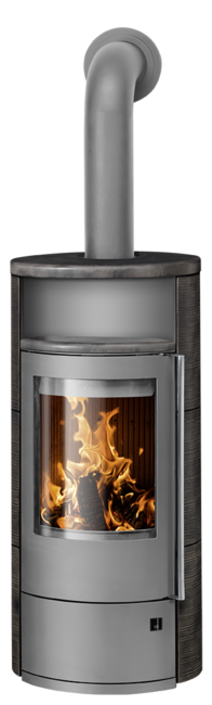 Wood stove Polar Neo 8 Ceramic Namib, corpus steel grey