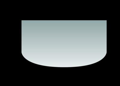 Glas-Vorlegeplatte Rundbogen Glas-Vorlegeplatte