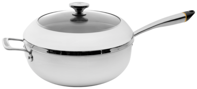 Chef's pot including lid with Bluetooth, ø 29.5 cm, with high edge 9.5 cm, stainless steel, suitable for induction of HESTAN CUE ™ Chef's pot including lid with Bluetooth, ø 29.5 cm, with high edge 9.5 cm, stainless steel, suitable for induction of HESTAN CUE ™