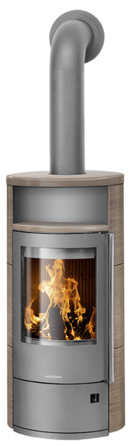 Wood stove Polar Neo 4 Ceramic Grappa, corpus steel grey