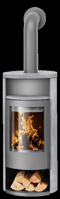 Wood stove Polar Neo 8 Soapstone, corpus steel grey