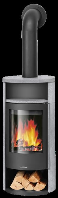 Wood stove Polar Neo 4 Soapstone, corpus steel black