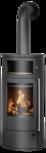 Wood stove Polar Neo Bakery Steel black