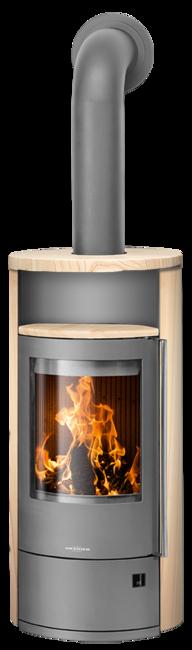 Wood stove Polar Neo 4 Sandstone, corpus steel grey