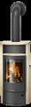 Wood stove Polar Neo 4 Sandstone, corpus steel black