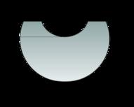 Glas-Vorlegeplatte zu Polar Neo 4 Glas-Vorlegeplatte
